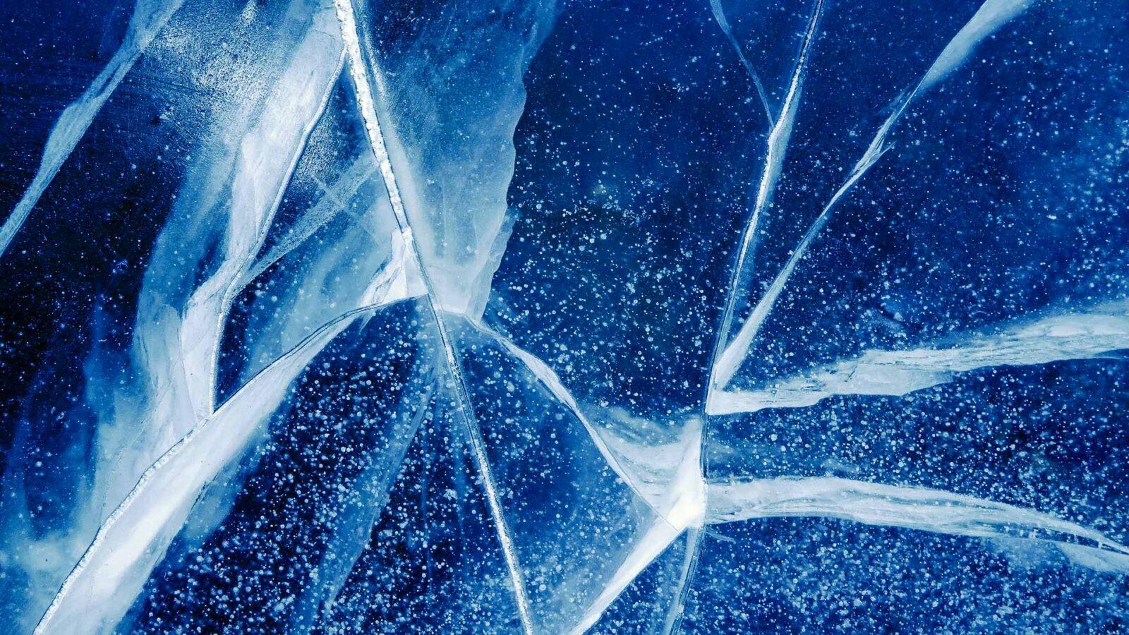 Pękający lód